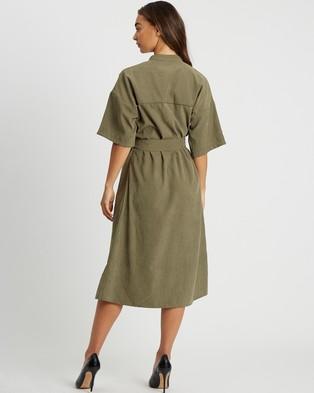Reux Paige Shirt Dress - Dresses (Khaki)