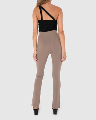 Madison The Label Henley Zip Pants - Sweatpants (Taupe)