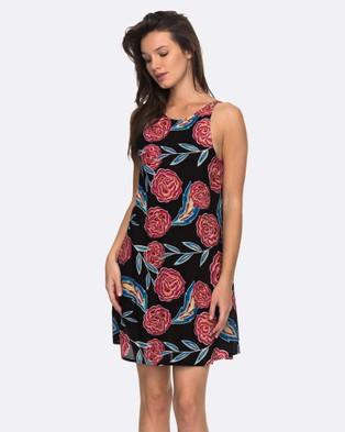 Roxy – Womens Sunburnt Land High Neck Strappy Dress – Swimwear ANTHRACITE MEXICAN R