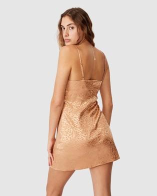 Cotton On Woven Kerr Strappy Mini Dress - Bodycon Dresses (Summer Sand Leopard)