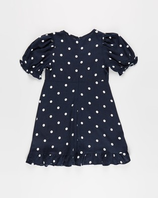 Free by Cotton On Paris Short Sleeve Dress   Teens - Printed Dresses (Indian Ink & Spot)
