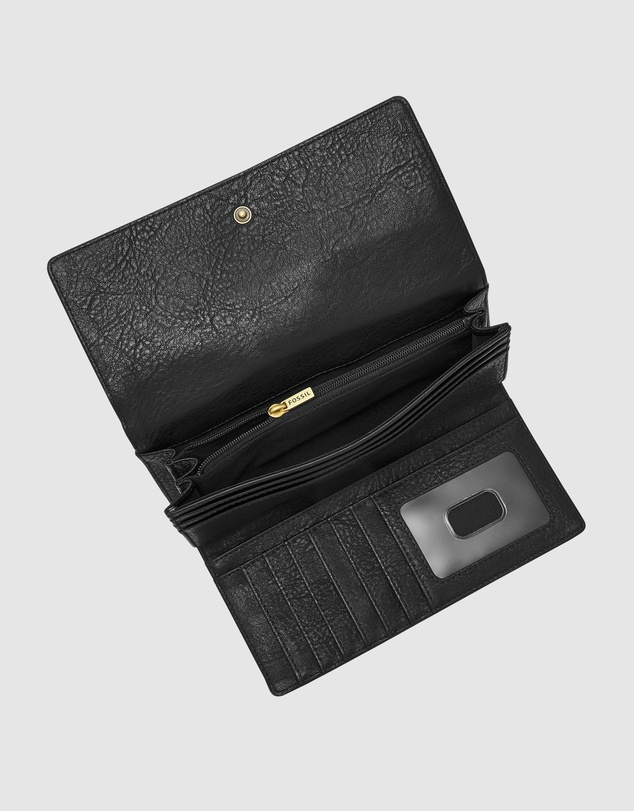 Fossil - Logan Black RFID Flap Wallet
