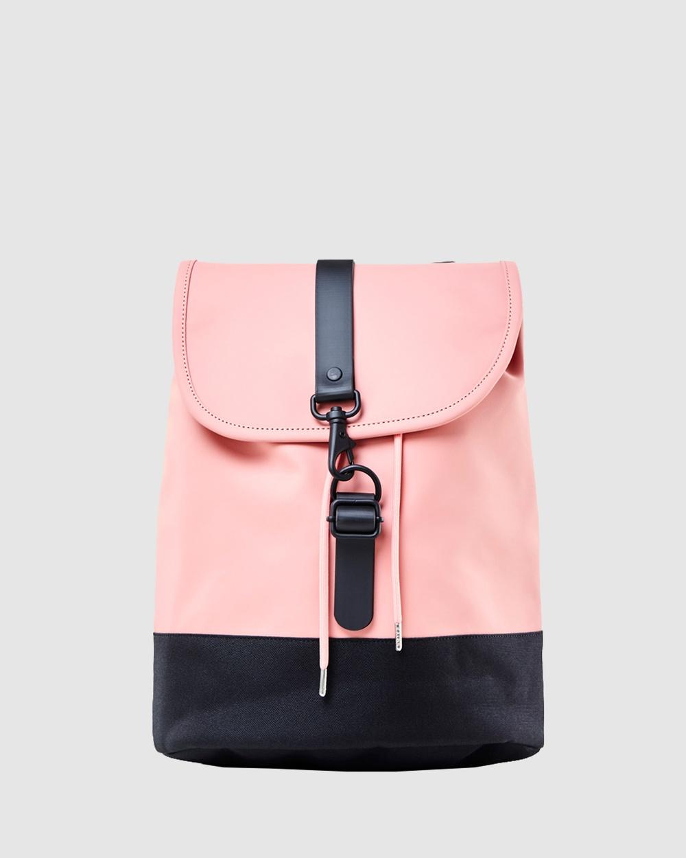 RAINS Drawstring Backpack Bags Coral