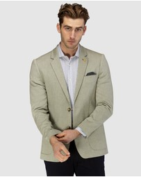 Brooksfield - Stretch Herringbone Weave Blazer