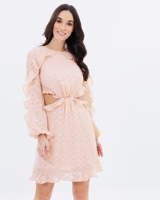 Dark Pink – Cut Out Ruffle Dress Blush