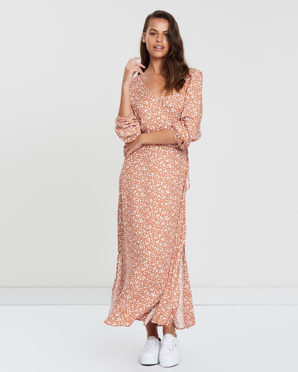 4084b560110 Woven Long Sleeved Winter Maxi Dress by Cotton On Online