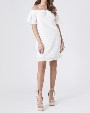 Amelius Isabel Shift Mini Dress - Dresses (White)