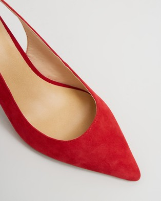 Atmos&Here Allegra Leather Heels - All Pumps (Red Suede)