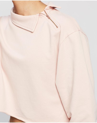 All Fenix Cozy Side Zip Sweater Blush