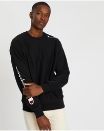 Champion - Reverse Weave Crew Multi Script Sweater