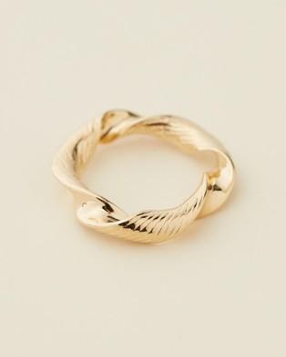 Reliquia Jewellery Twist & Turn Ring - Jewellery (Gold)