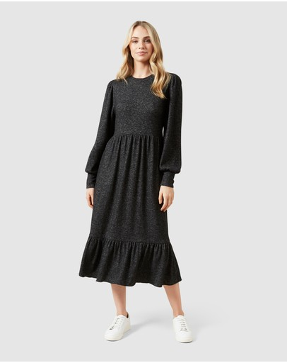French Connection - Puff Sleeve Knit Dress