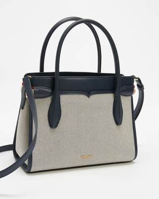 Kate Spade Toujours Canvas Medium Satchel - Handbags (Indigo)
