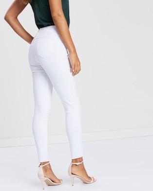 Moss??e Kim Elastic Waist Stretch Pants - Pants (White)