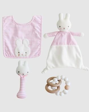Alimrose - Baby Bunny Newborn Gift Set - Toys (Pink) Baby Bunny Newborn Gift Set