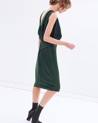 CAMILLA AND MARC – Bowery Drape Dress Khaki