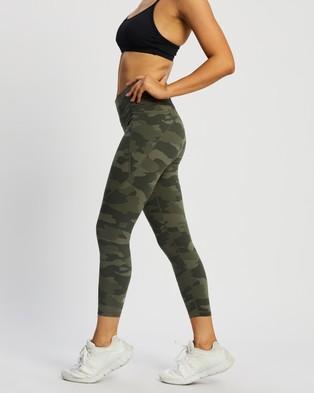 Sweaty Betty Power 7 8 Workout Leggings - 7/8 Tights (Olive Tonal Camo Print)