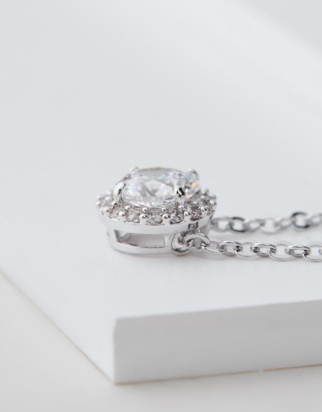 Women Angelic Round Necklace
