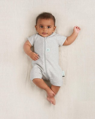 ergoPouch Layers Short Sleeve 0.2 TOG   Babies - Shortsleeve Rompers (Grey Marle)