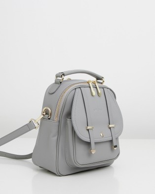 Belle & Bloom Camila Leather Backpack - Backpacks (Grey)