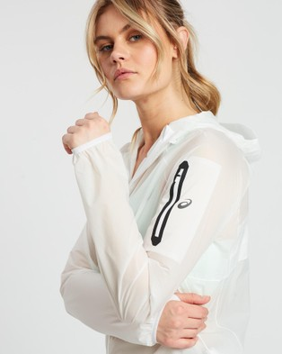 ASICS Metarun Waterproof Jacket   Women's - Coats & Jackets (Brilliant White)