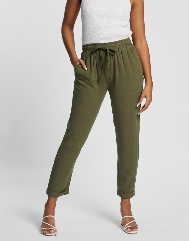 Atmos&Here - Joanna Linen Blend Relaxed Pants