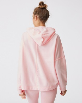 Cotton On Body Active Lifestyle Relaxed Hoodie Hoodies Pink Sherbet Marle