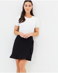 Oasis - Ruffle Wrap Mini Skirt