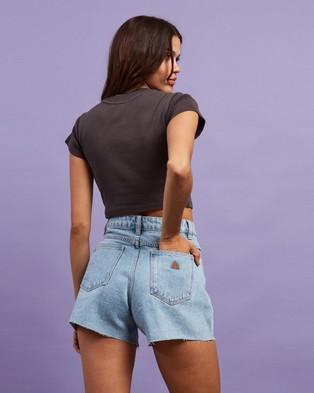 Abrand A 90s Crop Tee - T-Shirts & Singlets (Vintage Black)