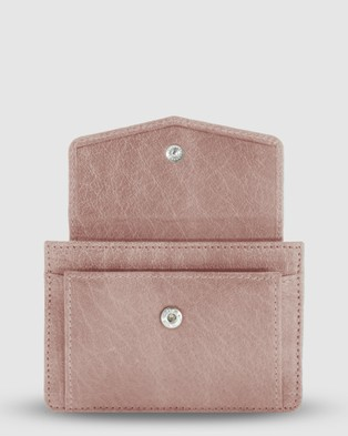 Cobb & Co Banksia Leather Card Holder - Wallets (Blush)