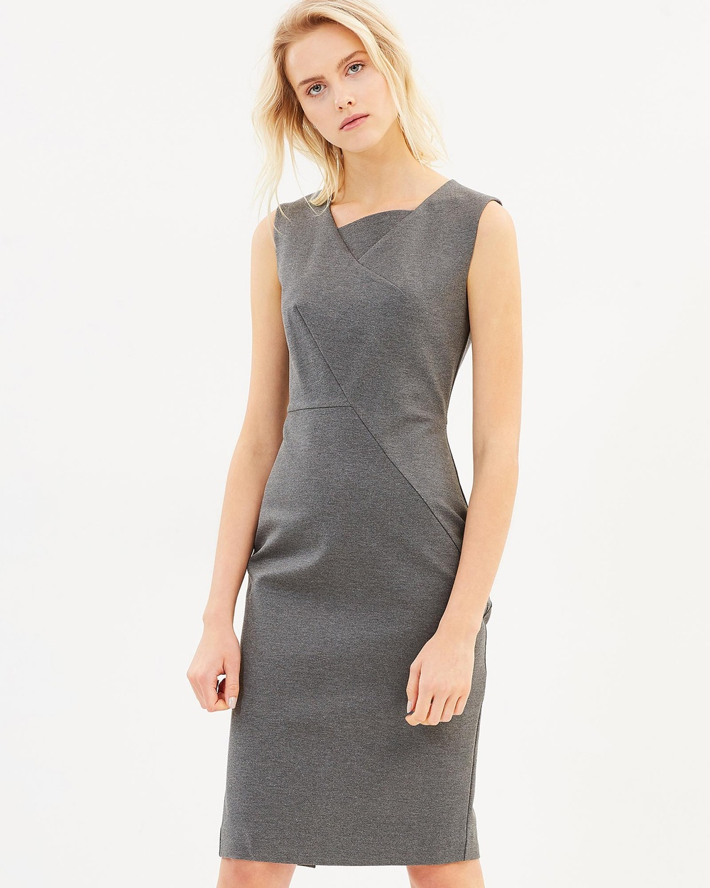 Friend of Audrey Ajax Panel Dress Bodycon Dresses Grey Ajax Panel Dress