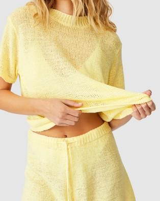 Cotton On Body Summer Lounge Shorts - Sleepwear (Lemon)