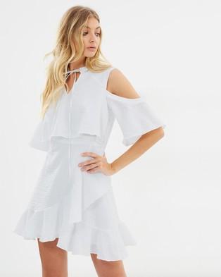 Atmos & Here – Destiny Wrap Dress White