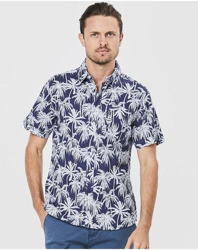 Coast Clothing Beach Palms Shirt Navy