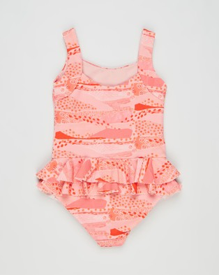 Little Fella Lil Oscar One Piece   Kids - One-Piece / Swimsuit (Pink Rivers)