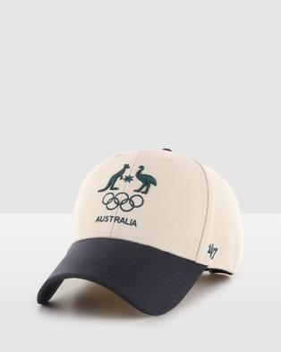 Australian Olympics - AOC?á Sure Shot Two Tone '47 MVP Headwear (White and Black)