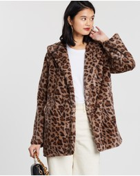 All About Eve - Leopard Faux Fur Jacket