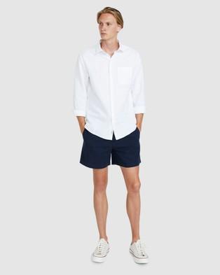 Arvust Puglia Linen Shorts - Shorts (NAVY)