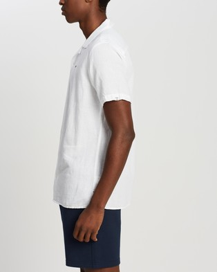 Tommy Jeans Stripe Camp Shirt - Casual shirts (White)