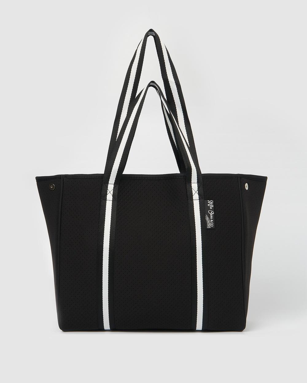 Miz Casa and Co California Neoprene Tote Bag Bags Black