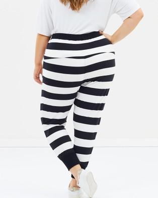 Advocado Plus Wrap Cropped Pants - Pants (Black Stripe)