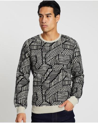Cerruti 1881 Patterned Wool Sweater Multi