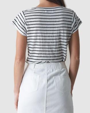 Amelius Avalon Linen T Shirt - T-Shirts & Singlets (Stripe)