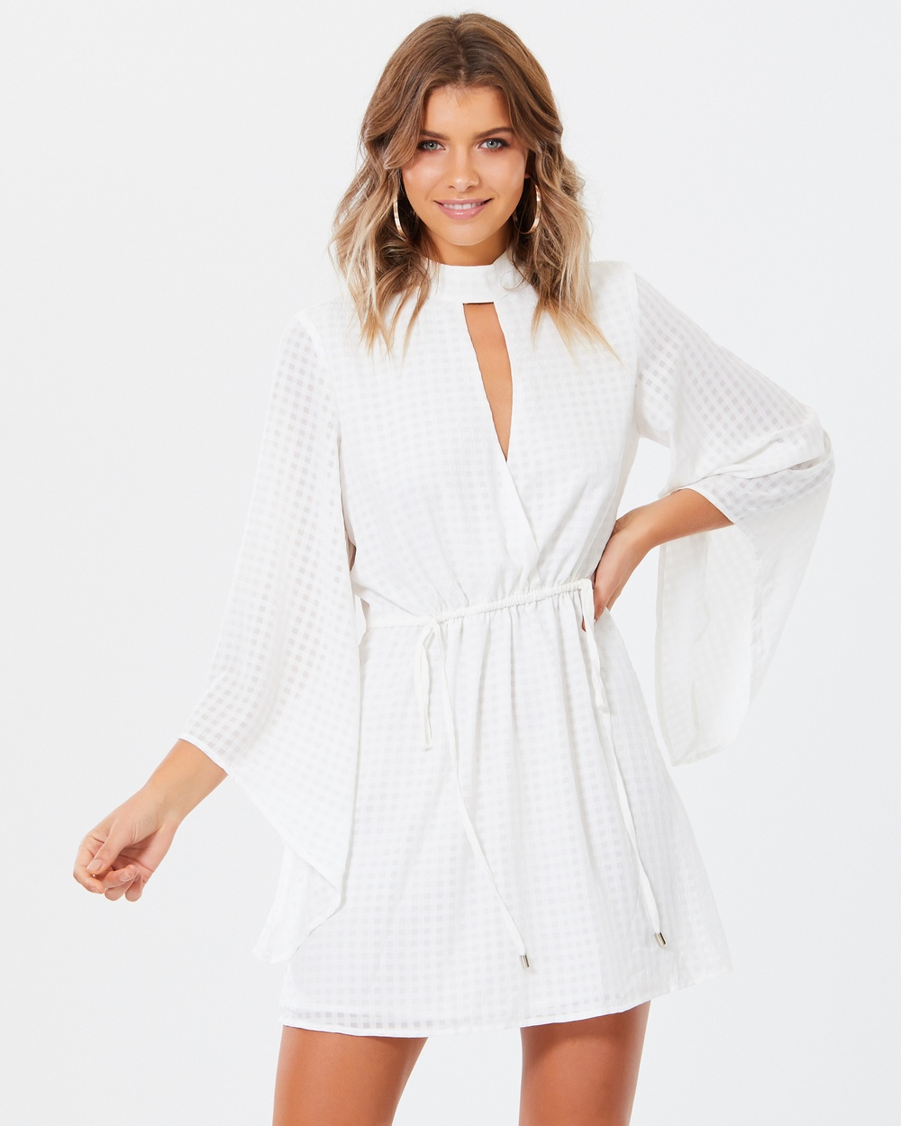 Tussah Portia Mini Dress Dresses White Portia Mini Dress