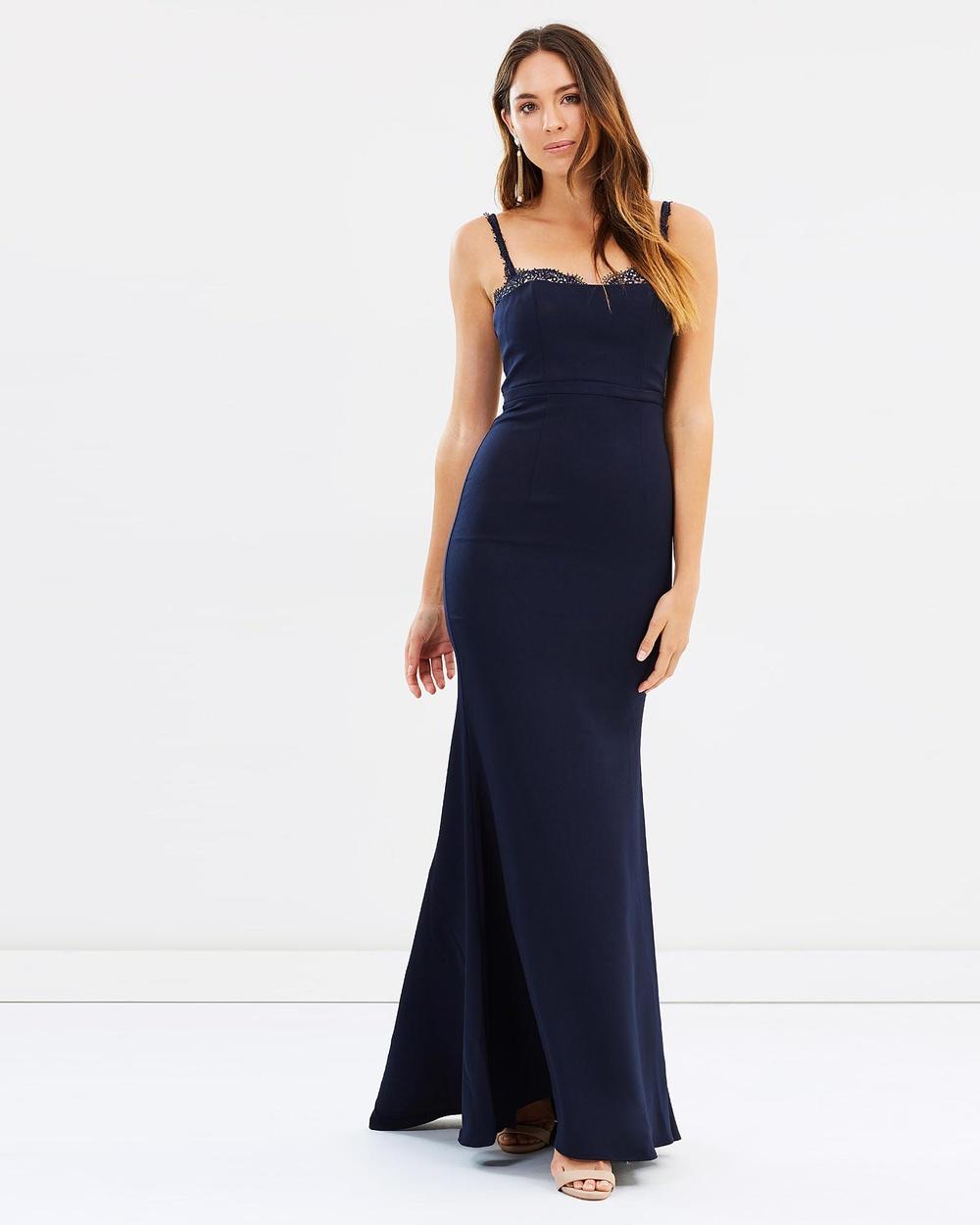 Love Honor Dena Gown Bridesmaid Dresses Navy Dena Gown