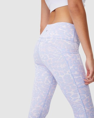 Cotton On Body Active Love You A Latte 7 8 Active Tights - Compression (Water Animal Blossom)