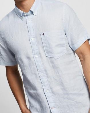 Tommy Hilfiger Linen SS Shirt - Casual shirts (Keepsake Blue)