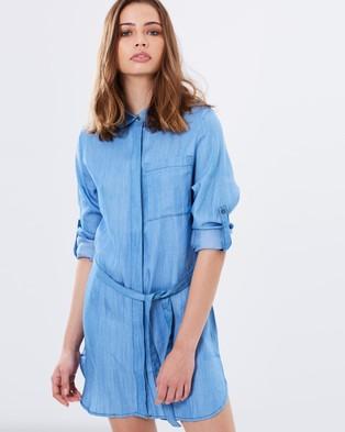 Sass – Santana Shirt Dress – Dresses (Chambray)