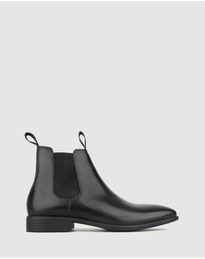 Airflex Henry Leather Chelsea Boots Black
