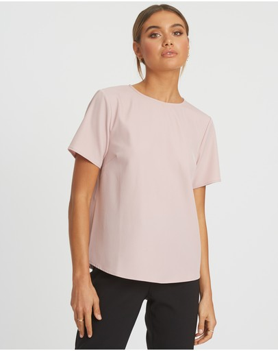 Reux Hannah Tee Top Oyster Pink